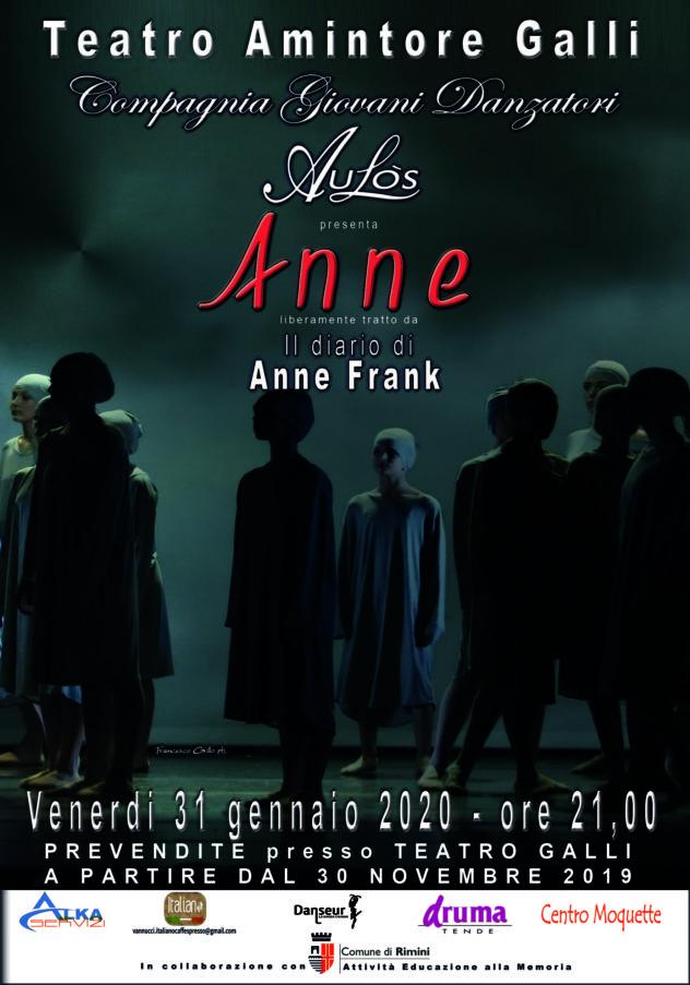 Anne - liberamente tratto da Il Diario di Anne Frank